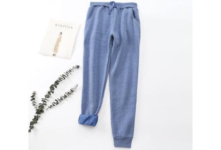 Dames joggingbroek | Trainingsbroek met fleece binnenkant Blauw