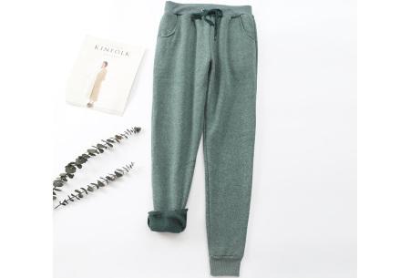 Dames joggingbroek | Trainingsbroek met fleece binnenkant Donker groen