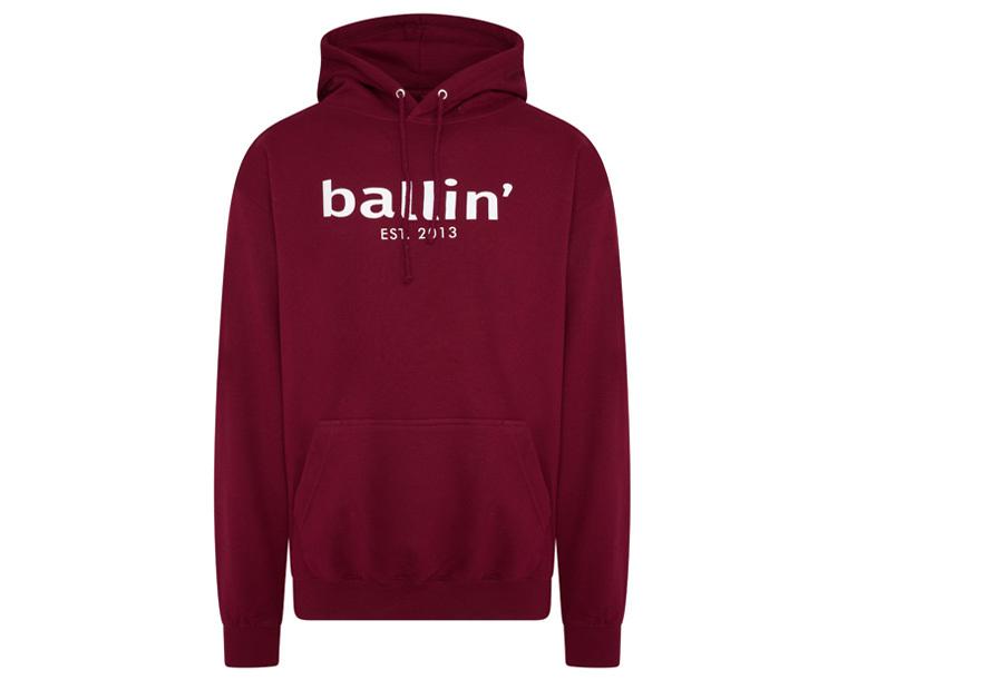 Ballin Est. 2013 heren hoodie Maat L - Burgundy