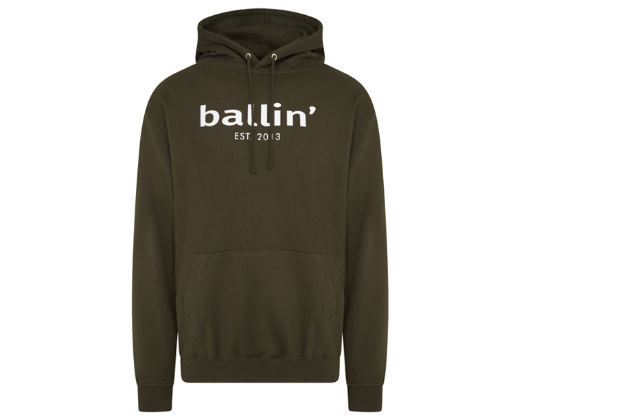 Ballin Est. 2013 heren hoodie Maat 3XL - Legergroen