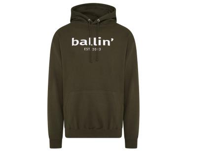 Ballin Est.2013 hoodie voor heren | Hippe sweater met capuchon nu in de sale Legergroen