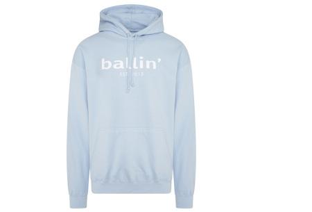 Ballin Est.2013 hoodie voor heren | Hippe sweater met capuchon nu in de sale Lichtblauw