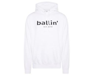 Ballin Est.2013 hoodie voor heren | Hippe sweater met capuchon nu in de sale Wit