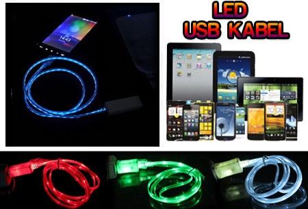 LED verlichte oplaadkabel voor smartphones, tablets etc t.w.v €29,95 nu GRATIS