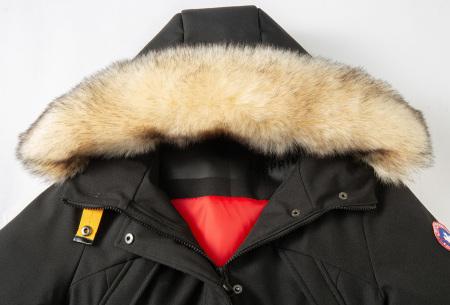 Subprime winterjas dames | Warme parka jas met afneembare imitatiebontkraag
