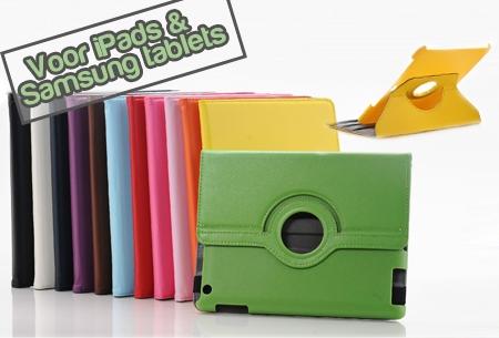 PU Lederen Tablet cases t.w.v. €44,95 nu €9,95 voor iPads en Samsung tablets