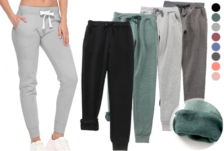 Dames joggingbroek | Trainingsbroek met fleece binnenkant