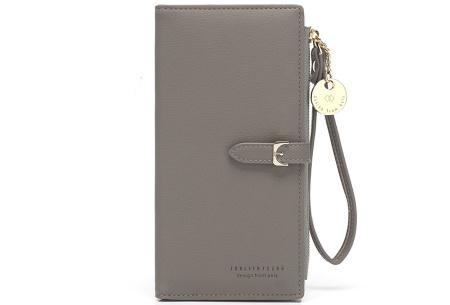 Portemonnee met telefoonvak | Dames portemonnee en telefoontasje in één! Grijs