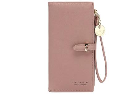 Portemonnee met telefoonvak | Dames portemonnee en telefoontasje in één! Oudroze
