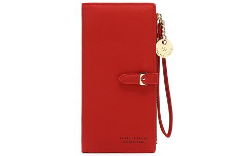 Portemonnee met telefoonvak | Dames portemonnee en telefoontasje in één! Rood