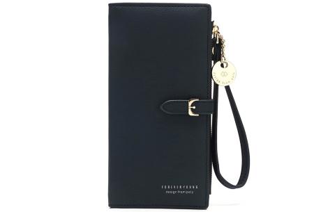 Portemonnee met telefoonvak | Dames portemonnee en telefoontasje in één! Zwart