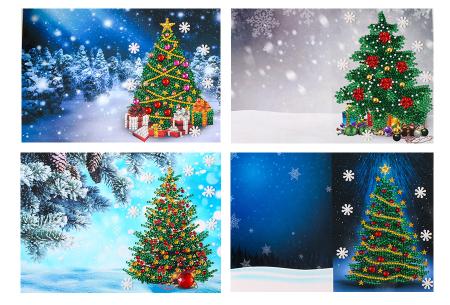 Diamond painting kerstkaarten set | Maak zelf de mooiste kerstkaarten  Pakket 1