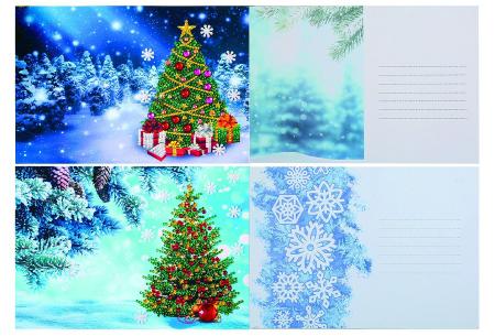 Diamond painting kerstkaarten set | Maak zelf de mooiste kerstkaarten