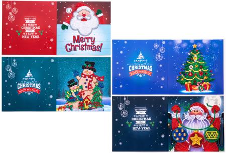 Diamond painting kerstkaarten set | Maak zelf de mooiste kerstkaarten  Pakket 2