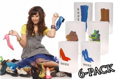 Handig: Opvouwbare schoenenopbergdozen 6-pack t.w.v. €33,85 nu €14,95