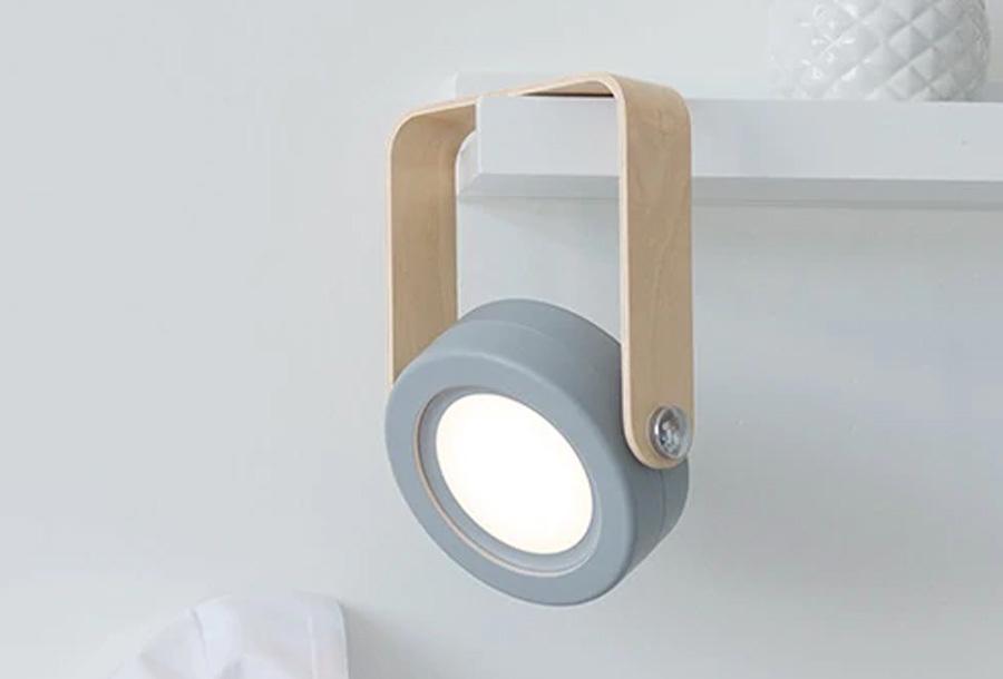 Multifunctionele lamp Set van 2 grijze lampjes