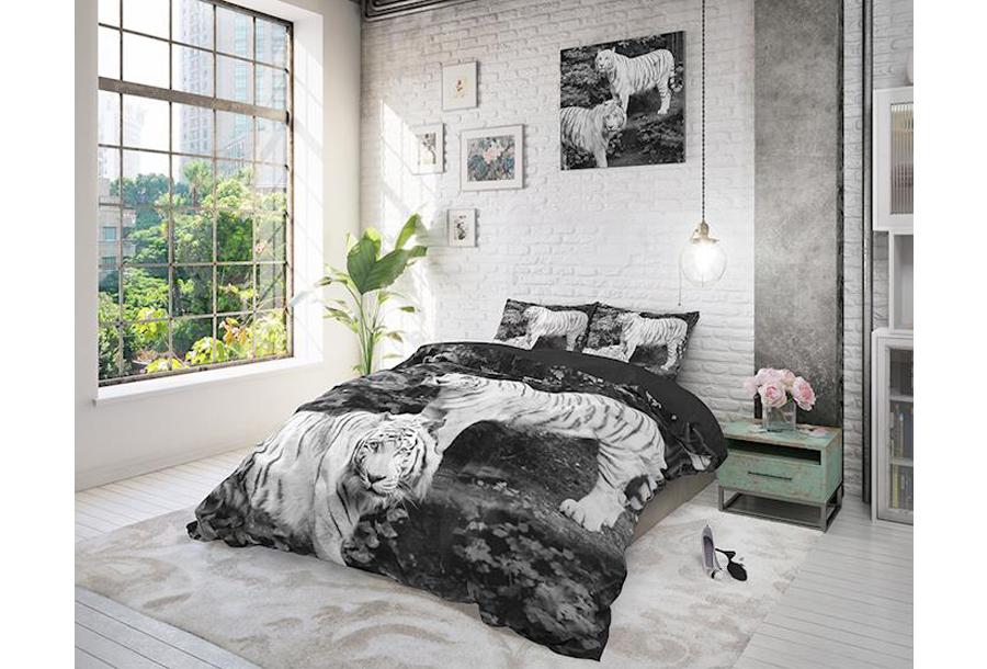 Dekbedovertrekken met print van Dreamhouse Maat 140 x 220 cm - Tigers Grey