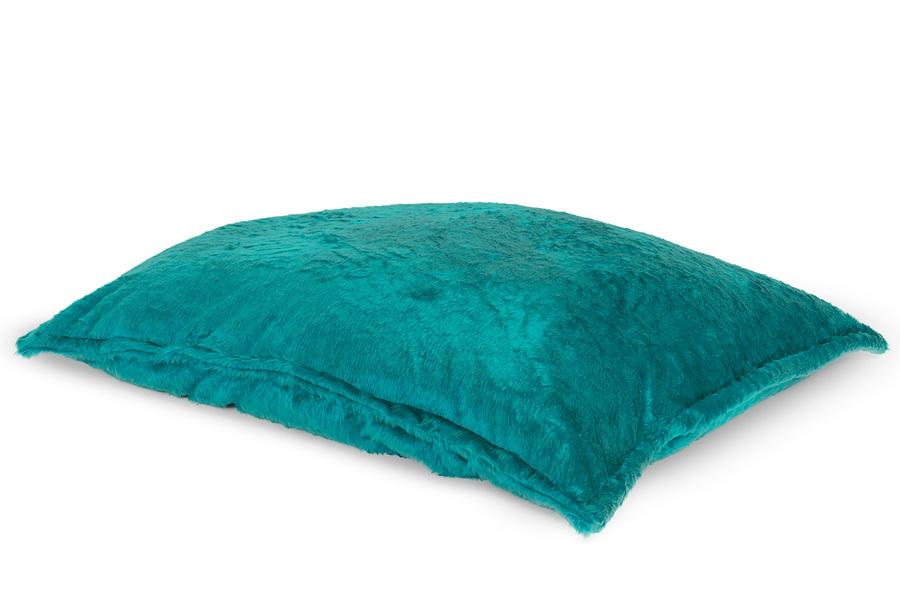 Drop & Sit Furry zitzak Loungekussen - Afmeting 100 x 150 cm - Aqua