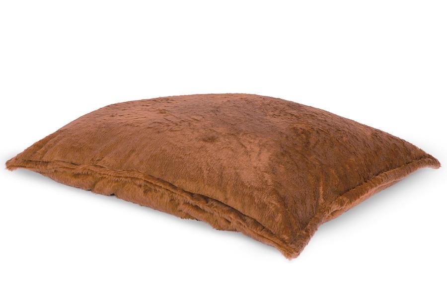Drop & Sit Furry zitzak Loungekussen - Afmeting 100 x 150 cm - Camel
