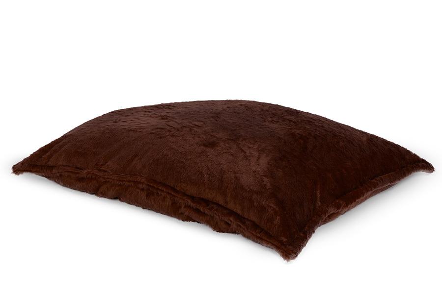 Drop & Sit Furry zitzak Loungekussen - Afmeting 130 x 150 cm - Donkerbruin