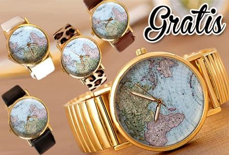 Travel horloge, Uniek exemplaar t.w.v. €34,95 nu GRATIS! Kies uit 5 kleuren