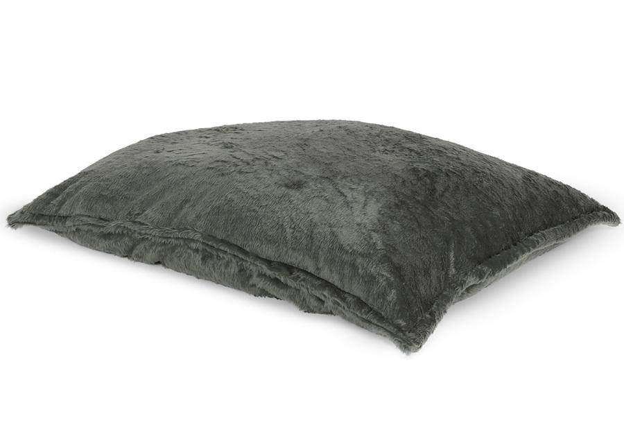 Drop & Sit Furry zitzak Loungekussen - Afmeting 100 x 150 cm - Donkergrijs