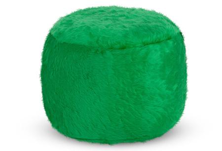 Drop & Sit Furry zitzak   Keuze uit 17 kleuren en 3 soorten - in verschillende maten! Donkergroen - poef rond