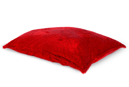 Drop & Sit Furry zitzak   Keuze uit 17 kleuren en 3 soorten - in verschillende maten! Rood - loungekussen