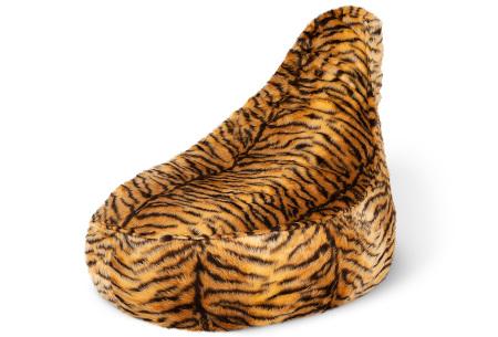 Drop & Sit Furry zitzak   Keuze uit 17 kleuren en 3 soorten - in verschillende maten! Tijgerprint - stoel