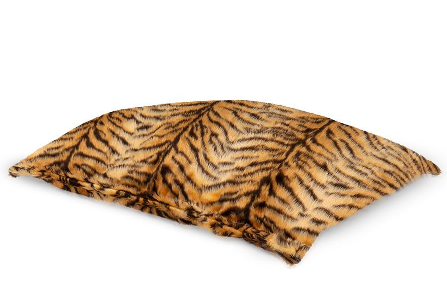 Drop & Sit Furry zitzak Loungekussen - Afmeting 100 x 150 cm - Tijgerprint