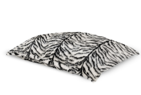 Drop & Sit Furry zitzak   Keuze uit 17 kleuren en 3 soorten - in verschillende maten! Zebra  - loungekussen