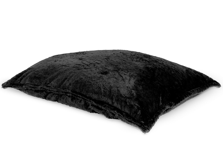 Drop & Sit Furry zitzak Loungekussen - Afmeting 130 x 150 cm - Zwart