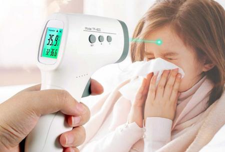 Infrarood koortsthermometer   Contactloze & snelle voorhoofdthermometer