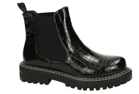 Zwarte enkellaarsjes | Trendy laarsjes voor dames - 4 uitvoeringen Crocodile