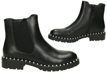 Zwarte enkellaarsjes | Trendy laarsjes voor dames - 4 uitvoeringen
