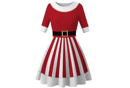 Foute kerstjurk | Originele jurk voor dames - 10 verschillende printjes B - Kerstvrouw