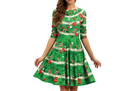 Foute kerstjurk | Originele jurk voor dames - 10 verschillende printjes E - Kerstboom