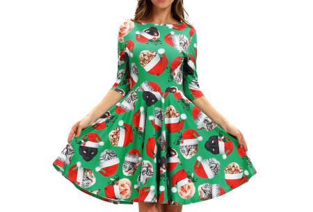 Foute kerstjurk | Originele jurk voor dames - 10 verschillende printjes G - Katten met kerstmuts