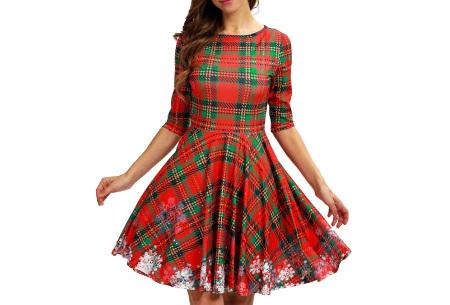 Foute kerstjurk | Originele jurk voor dames - 10 verschillende printjes H - Ruitjes
