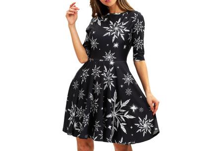 Foute kerstjurk | Originele jurk voor dames - 10 verschillende printjes I - Ijskristallen