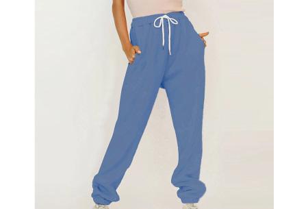 Superzacht huispak voor dames | Fleece gevoerde joggingbroek en/of sweater - in 5 kleuren Blauw - broek