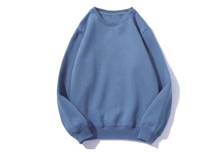 Superzacht huispak voor dames | Fleece gevoerde joggingbroek en/of sweater - in 5 kleuren Blauw - trui