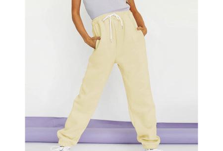 Superzacht huispak voor dames | Fleece gevoerde joggingbroek en/of sweater - in 5 kleuren Geel - broek