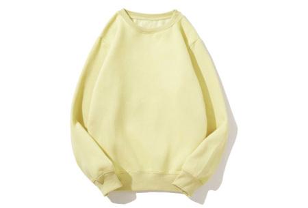 Superzacht huispak voor dames | Fleece gevoerde joggingbroek en/of sweater - in 5 kleuren Geel - trui