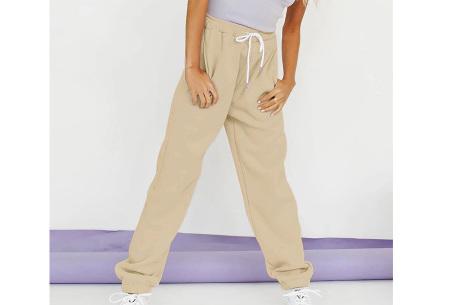 Superzacht huispak voor dames | Fleece gevoerde joggingbroek en/of sweater - in 5 kleuren Khaki - broek