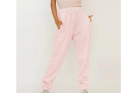 Superzacht huispak voor dames | Fleece gevoerde joggingbroek en/of sweater - in 5 kleuren Roze - broek