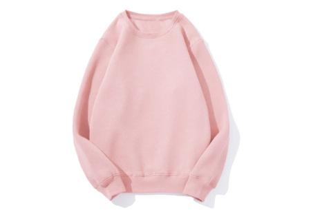 Superzacht huispak voor dames | Fleece gevoerde joggingbroek en/of sweater - in 5 kleuren Roze - trui