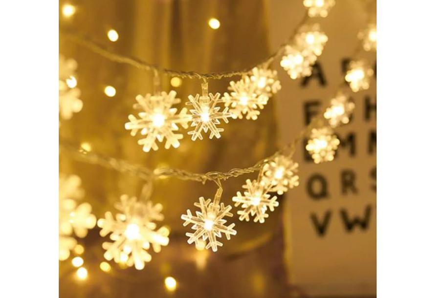 Snowflake kerstverlichting Warm wit - 2 meter