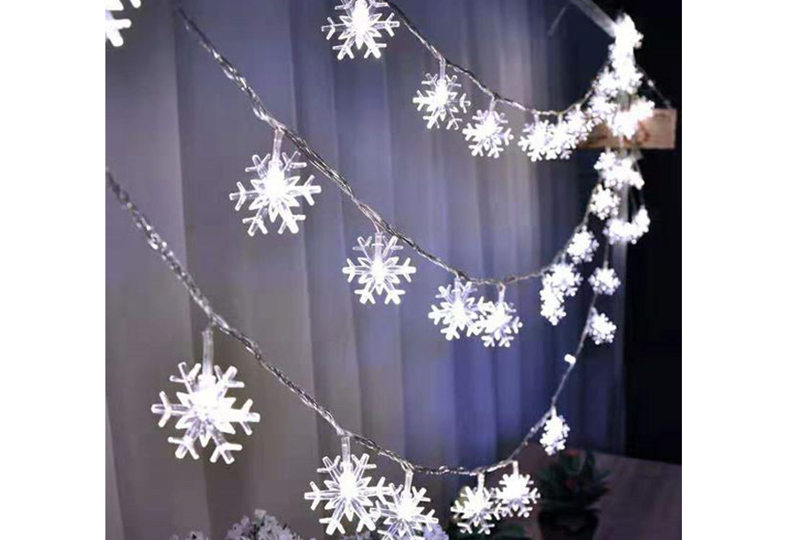 Snowflake kerstverlichting Wit - 6 meter
