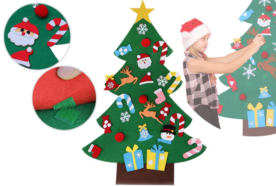 Vilten kerstboom in de aanbieding